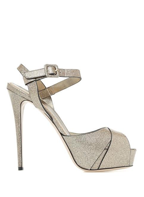 Le Silla topuklu ayakkabı Altın